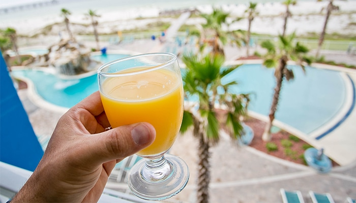 fort walton beach hotel package HIRFWB Riptides Breakfast